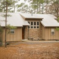 One of the cozy cabin rentals offered at the state park. - South Toledo Bend State Park Campground