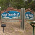 State park greeting sign.- South Toledo Bend State Park
