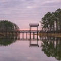 Sunset over the Lakeview Trail boardwalk. - South Toledo Bend State Park
