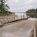 Two lane boat launch near the overflow parking. - South Toledo Bend State Park