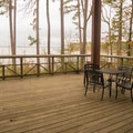 The back porch of the visitor center offers good views. - South Toledo Bend State Park