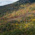 Cloud shadows moving across the mountain.- Linn Cove Viaduct
