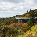 The viaduct seems to float among the trees.- Linn Cove Viaduct