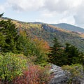 The Blue Ridge Parkway to the north.- Linn Cove Viaduct
