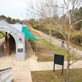 Mandeville Trailhead is in a plaza with concerts and markets.- Tammany Trace