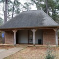 Large heated bathrooms serve the camp areas. Each has water and free showers.- Sam Houston Jones State Park Campground