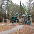 Camp Area 2 has a playground.- Sam Houston Jones State Park Campground