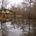 Lakeside cabins are available for rent!- Chemin-A-Haut State Park