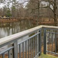 View from the back deck of one of the cabins. - Chemin-A-Haut State Park
