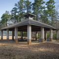 A nice covered picnic area by the tennis courts. - Lake D'Arbonne State Park Campground