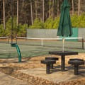 Users can enjoy one of the four tennis courts, even after dark! - Lake D'Arbonne State Park Campground