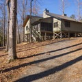 This particular cabin (#14) has a great view of the lake!- Lake D'Arbonne State Park Campground