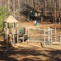 Another playground found between the two cabin areas. - Lake D'Arbonne State Park Campground