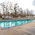 The campground offers a pool along with showers and a coin-operated laundry building.- Frenchman's Wilderness Campground