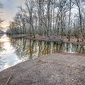 A boat launch is available with bayou and fishing access.- Frenchman's Wilderness Campground