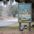 Sign at the offices of Rockefeller Wildlife Refuge.- Rockefeller Wildlife Refuge