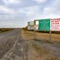 Regulations posted at the entrance gate for Price Lake Road.- Rockefeller Wildlife Refuge