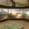 Displays inside the visitor center. - Cameron Prairie National Wildlife Refuge