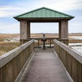 The viewing deck behind the Southwest Louisiana National Wildlife Refuge Complex Visitor Center.- Cameron Prairie National Wildlife Refuge