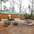 There are several rental cabin options.- Sam Houston Jones State Park