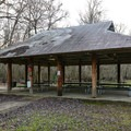 Several covered picnic pavilions sit throughout the state park grounds.- Lake Fausse Pointe State Park