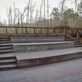 The amphitheater for campers is perched directly over a swamp wetlands.- Sam Houston Jones State Park