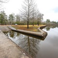The boat launch area inside Sam Houston Jones State Park.- Sam Houston Jones State Park