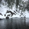 John McGlaphlin on the Big Wood River.- Winter Fly Fishing with Silver Creek Outfitters