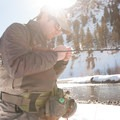 Chris Willich on the Big Wood River.- Winter Fly Fishing with Silver Creek Outfitters