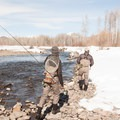 Winter on the Big Wood River.- Winter Fly Fishing with Silver Creek Outfitters