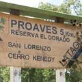 Entering the Cerro Kennedy Reserve.- Cerro Kennedy (La Cuchillo de San Lorenzo) Sunrise Hike
