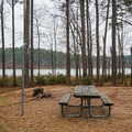 Site with a view of the water.- Beaver Dam Campground