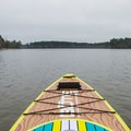 In the middle of Upper Caney Lake.- Caney Lakes Paddling