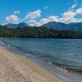 Beach at Brod Bay before the climb.- New Zealand Great Walks: Kepler Track