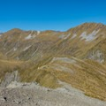 Looking down at the first shelter on the ridge walk.- New Zealand Great Walks: Kepler Track