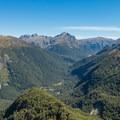 On the way down to Iris Burn Hut.- New Zealand Great Walks: Kepler Track