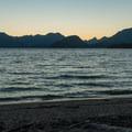 Sunset at Lake Manapouri.- New Zealand Great Walks: Kepler Track