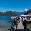 Everyone debarking the boat.- New Zealand Great Walks: Milford Track