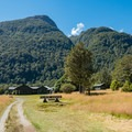 The first hut is part of the premium hut system.- New Zealand Great Walks: Milford Track