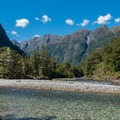Cliffs in the distance.- New Zealand Great Walks: Milford Track