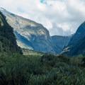 Approaching Mintaro Hut.- New Zealand Great Walks: Milford Track