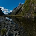 Tarns along the side of the valley.- New Zealand Great Walks: Milford Track