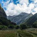 Mackinnon Pass from near Mintaro Hut.- New Zealand Great Walks: Milford Track