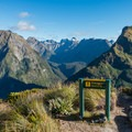 """At the top of """"12-second Drop.""""- New Zealand Great Walks: Milford Track"""