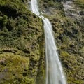 The bottom of the amazing 580-meter Sutherland Falls.- New Zealand Great Walks: Milford Track