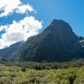 Cliffs surrounding the falls.- New Zealand Great Walks: Milford Track