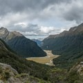 View from the Routeburn Falls Hut.- New Zealand Great Walks: Routeburn Track