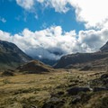 On the way up to Harris Saddle.- New Zealand Great Walks: Routeburn Track