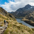 The trail as it begins to get closer to the lake.- New Zealand Great Walks: Routeburn Track