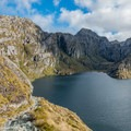 This section may make those afraid of heights uncomfortable.- New Zealand Great Walks: Routeburn Track